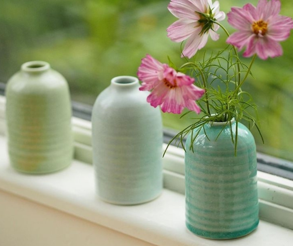Hand Thrown ceramic vases by Katie Robbins.