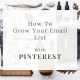 Grow your mailing list with Pinterest by Curly Carrot