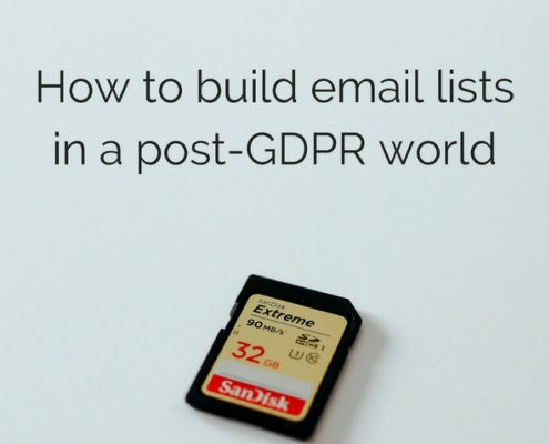 How small businesses can Grow Email Lists Post-GDPR