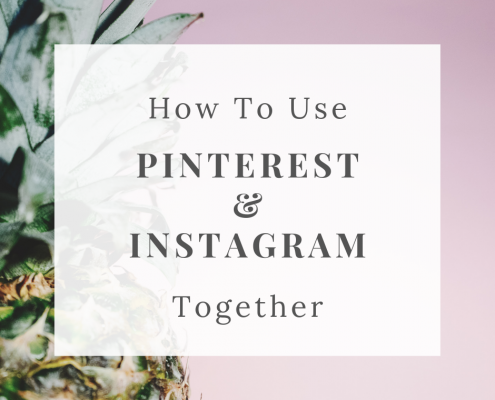 How to use Instagram and Pinterest together for your creative business by Curly Carrot