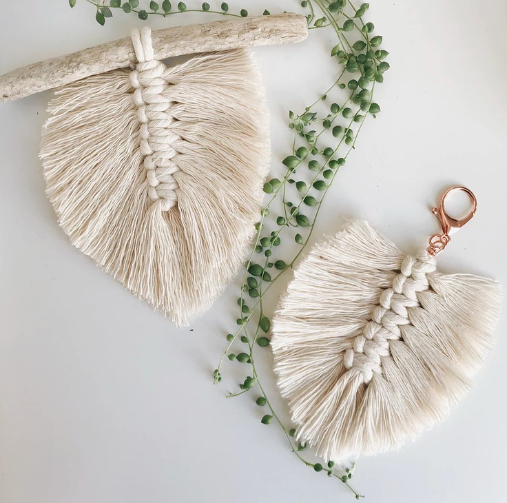 How to Make a Macrame Feather Tutorial