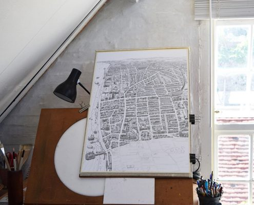 Studio space for Brighton Map by Dorte Januszewski