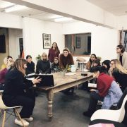 One Girl Band Pinterest workshop in Brighton with Curly Carrot
