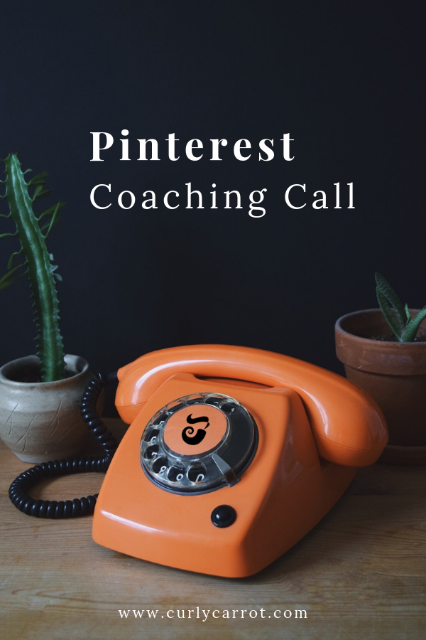 Pinterest Coaching Call with Curly Carrot