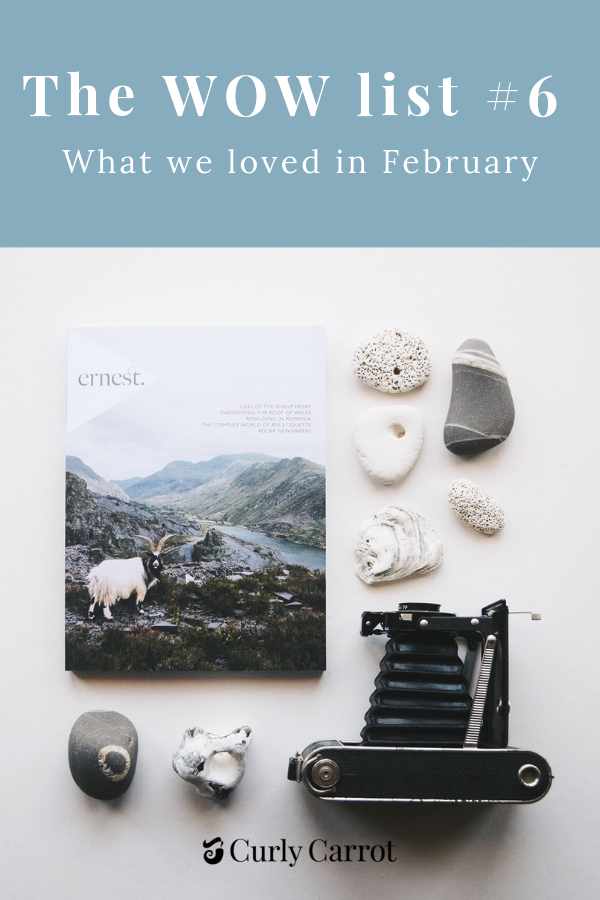 Wow list Number 6 - What we loved in February by Curly Carrot